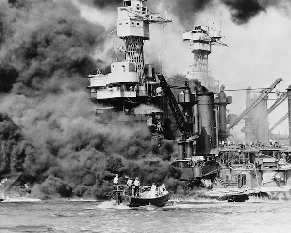 USS West Virginia sinking at Pearl Harbor