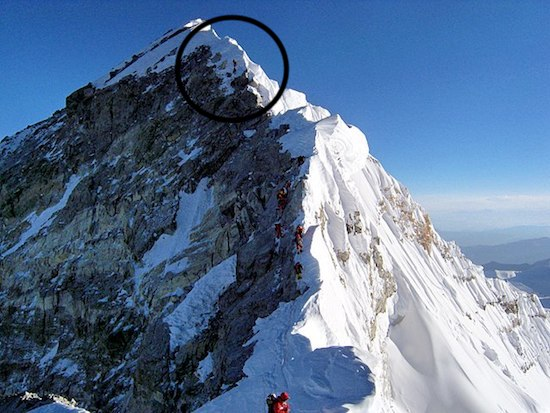 Hillary Step near Everest summit2